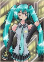 Hatsune Miku, from VOCALOID by Clampy-TFA