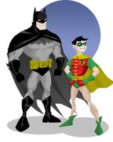 Batman and Robin by memorypalace