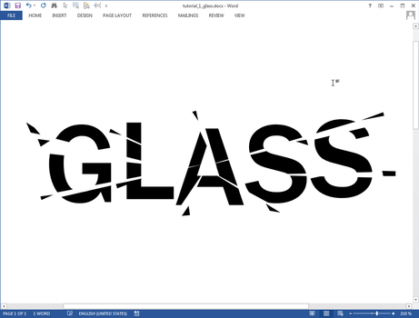 Glass text effect in Microsoft Word by upiir