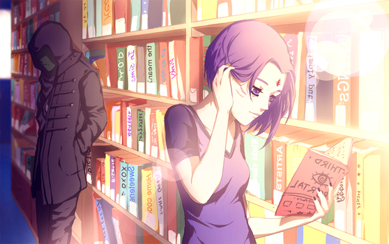 Commission: Library by momijigirl