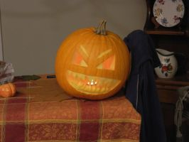 Pumpkin Face, Lights On by Champineography