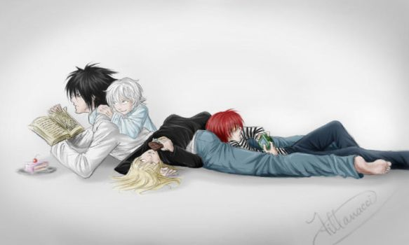 L, Near, Mello and Matt by vannylla