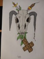 skull and cross by xRiverBx
