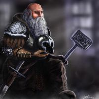 Dwarf Warrior by Suc-of