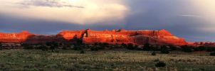 Canyonlands Sunset Panorama by CharlieA-Photos