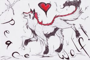 SING-a-SONG_Peace-Wolf by devALLjapan