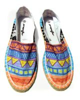painted espadrille by FadomLord