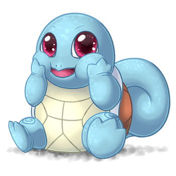Fat Squirtle by plushiemon