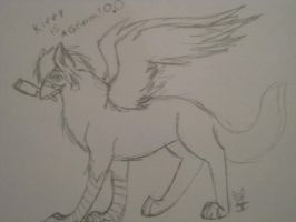 Kitty is actually a griffon XD by EchoKitsune