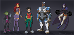 Teen Titans by Rubilight