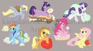 MLP FIM sticker set by Rocky-O