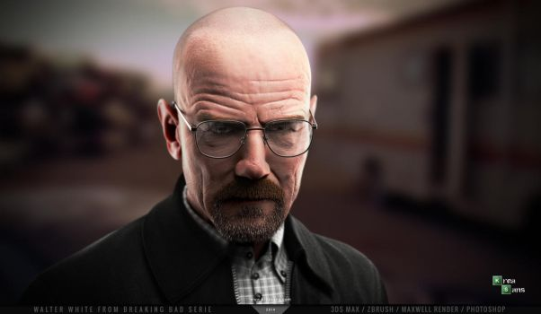 Walter White from Breaking Bad serie in 3D by kreasans