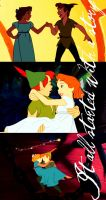 Wendy and Peter Pan by TheCourtneyLeighann
