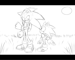 Sonic Generations Screenshot Sketch by Kyuubi83256