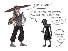Ahdou plays dress-up #4: Clothes-swap-with-artist by JarODragon