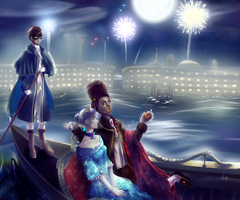 Party Of Love's Contest : Venice, North Italy by Kalafin99