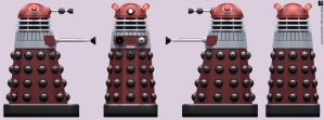Turner Red Dalek by Librarian-bot