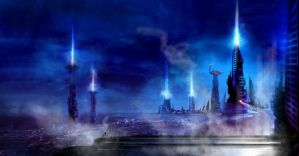beam towers by TomKellyART