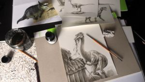 Work on Workplace: Ornithomimus by TmoeGee