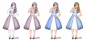 Alice Character Concept Progression by butterflyeyes884