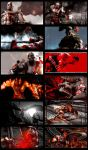 God of War 3 Remastered Collage by PawFeather