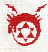 FMA Crosstitch - Ouroboros by littlemojo