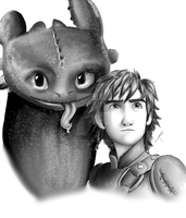 Hiccup And Toothless by Starwarrior4ever