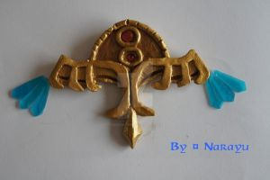Princess Zelda TP necklace chest and  blue crystal by Narayu-Crea