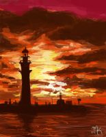 Lighthouse Speedpaint by artsyfartsyness
