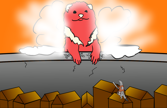 Attack On Ferret by pinkorchid123