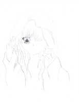Anime Girl (Lines Darkened by DrawnMerry) by KandyKitty101