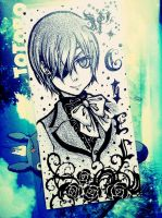 Ciel bookmark by KhanhEriko