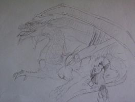 reida drawing her dragon by ghost010
