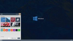 Windows 9 Redesign / Concept Menu by Reymond-P-Scene