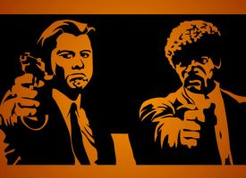 Pulp Fiction Stencil by funksoulfather