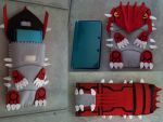 Groudon 3DS case by CaptHansIsMyMaster