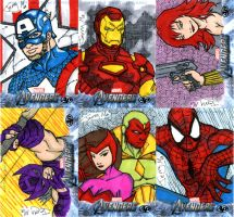 Avengers Artist Proof Cards by jerryma