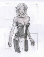 Commission-Drow Elf by Jaebird88