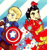 Captain America and Iron Man by Happy-Bomber