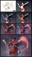 Sailor Mars steps by janaschi