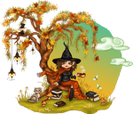 Autumn Under a Tree by WhimsicalWitch