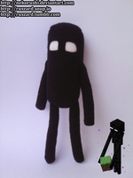 [Minecraft] Enderman plush by NekoRushi