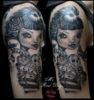 Sophies portrait by Reddogtattoo