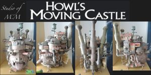 Howl's Moving Castle of Paper by studioofmm