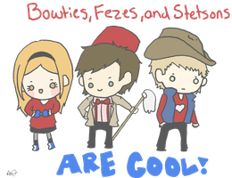 Bowties, Fezes, and Stetsons by StrawHatAna