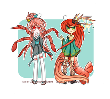 Lobster/crab [Collab-with-Isi-a-set] Closed~ by CherriSummer