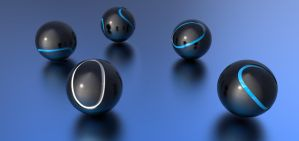 Metallic blue balls. Chaos in the details. by Lokirus