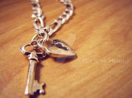 Necklace - Key to my heart by QuadixStudio