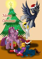 Merry Christmas with my friends and Pinkamena :) by MegaBlack0X