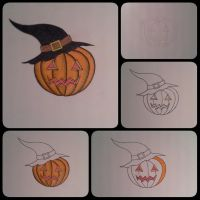 Making Jack o Lantern with witches hat by RevoltingArts